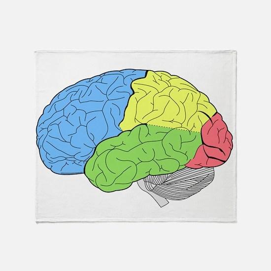 Primary Brain Throw Blanket