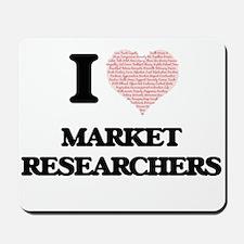 I love Market Researchers (Heart made fr Mousepad