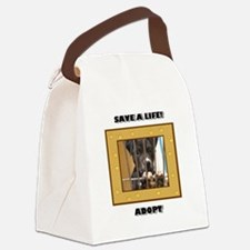 Save a life Adopt Canvas Lunch Bag