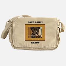 Save a life Adopt Messenger Bag