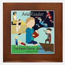 Reader Male Framed Tile