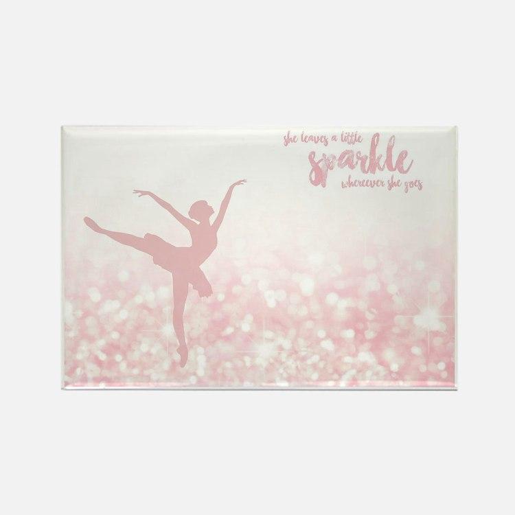 Cute Ballerina Rectangle Magnet