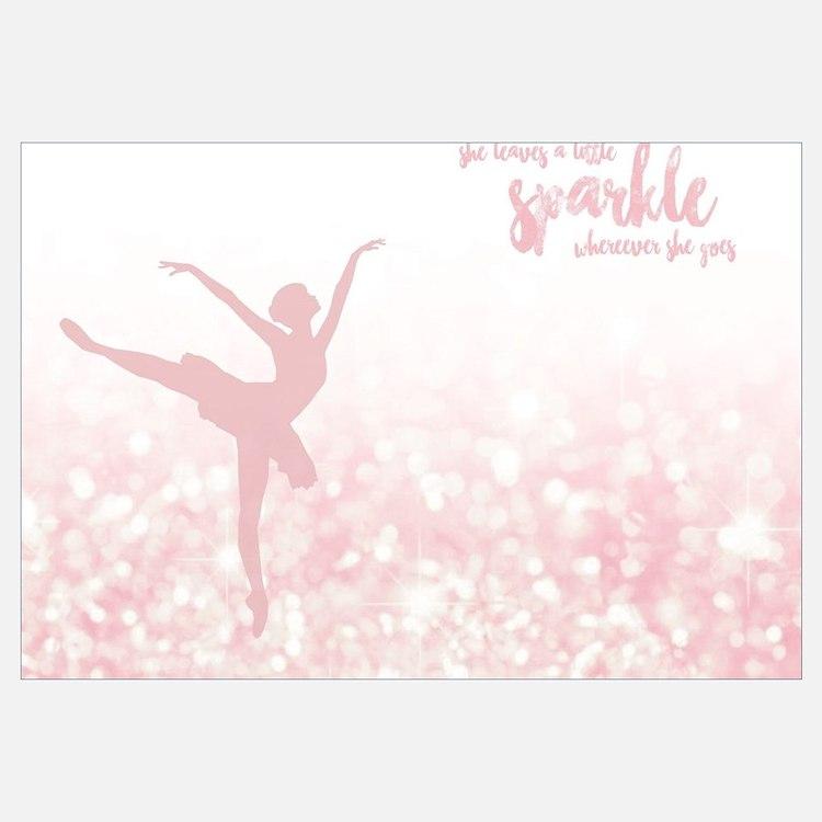 Cute Ballerina Wall Art
