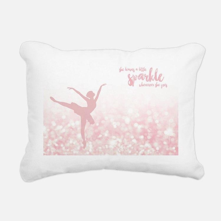Cute Ballerina Rectangular Canvas Pillow
