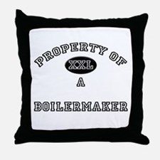 Property of a Boilermaker Throw Pillow