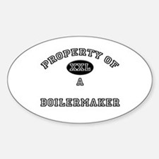 Property of a Boilermaker Oval Decal