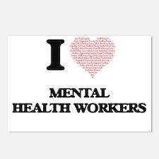 I love Mental Health Work Postcards (Package of 8)