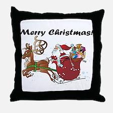 Merry Christmas Santa Throw Pillow