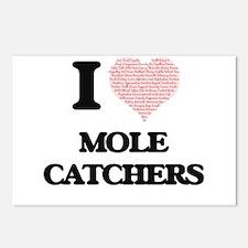 I love Mole Catchers (Hea Postcards (Package of 8)