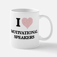 I love Motivational Speakers (Heart made from Mugs
