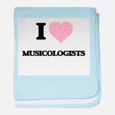 I love Musicologists (Heart made from baby blanket