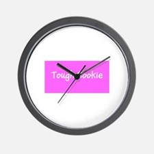 Tough Cookie Breast Cancer Pink for Flo Wall Clock