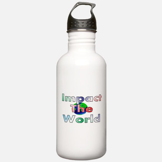 Cute Be the change in the world Water Bottle