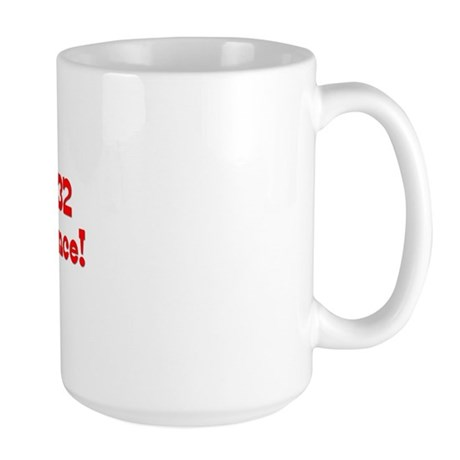 18 with 52 years red Large Mug