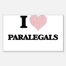I love Paralegals (Heart made from words) Decal