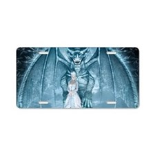 Ice Queen and Dragon Aluminum License Plate