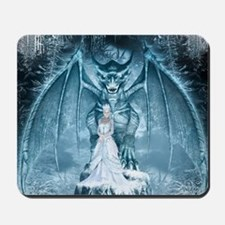 Ice Queen and Dragon Mousepad