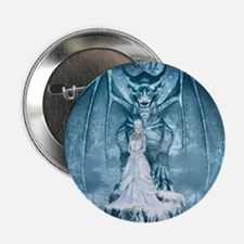 "Ice Queen and Dragon 2.25"" Button"