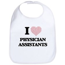 I love Physician Assistants (Heart made from w Bib