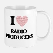 I love Radio Producers (Heart made from words Mugs
