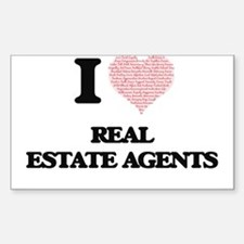 I love Real Estate Agents (Heart made from Decal
