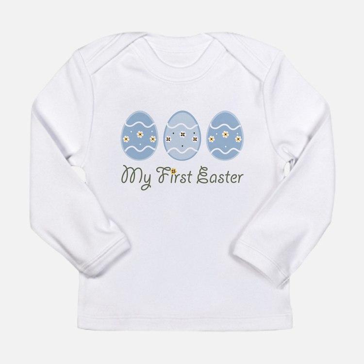 Cute Easter chocolate bunny Long Sleeve Infant T-Shirt
