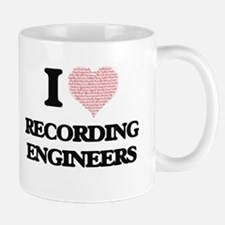 I love Recording Engineers (Heart made from w Mugs