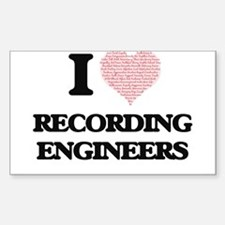 I love Recording Engineers (Heart made fro Decal