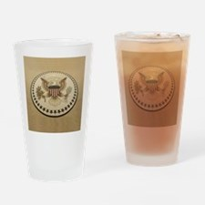 Funny Presidential seal Drinking Glass