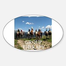 Unique Group horseback Sticker (Oval)
