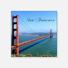 """Unique Golden gate bridge Square Sticker 3"""" x 3"""""""