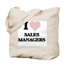I love Sales Managers (Heart made from wo Tote Bag