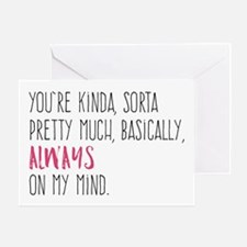 Always On My Mind Greeting Cards