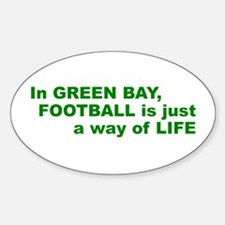 Football Green Bay Oval Decal