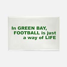 Football Green Bay Rectangle Magnet