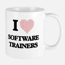 I love Software Trainers (Heart made from wor Mugs