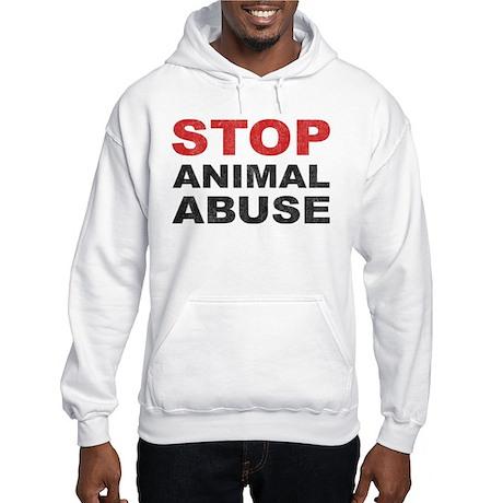 Stop Animal Abuse Hooded Sweatshirt