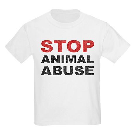stop animal abuse kids light t shirt stop animal abuse t shirt