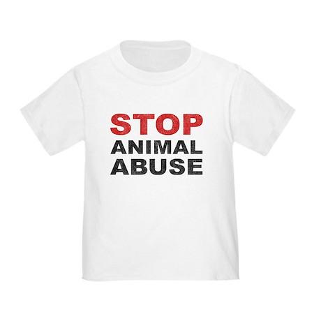 Stop Animal Abuse Toddler T-Shirt