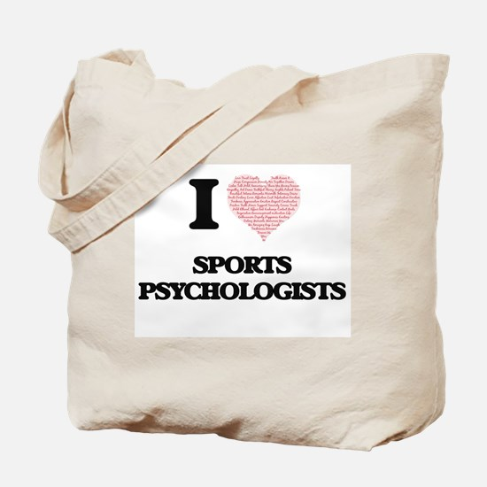 I love Sports Psychologists (Heart made f Tote Bag