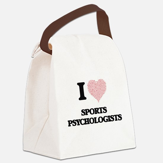 I love Sports Psychologists (Hear Canvas Lunch Bag