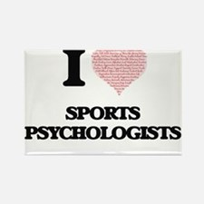 I love Sports Psychologists (Heart made fr Magnets