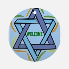 Welcome Sukkot Poster Ornament (Round)