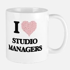 I love Studio Managers (Heart made from words Mugs
