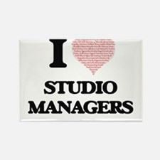 I love Studio Managers (Heart made from wo Magnets