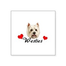 "Cool Customized dog food bowl Square Sticker 3"" x 3"""