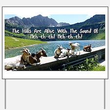 Musical Goats Yard Sign