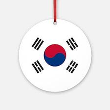 South Korea Flag Round Ornament