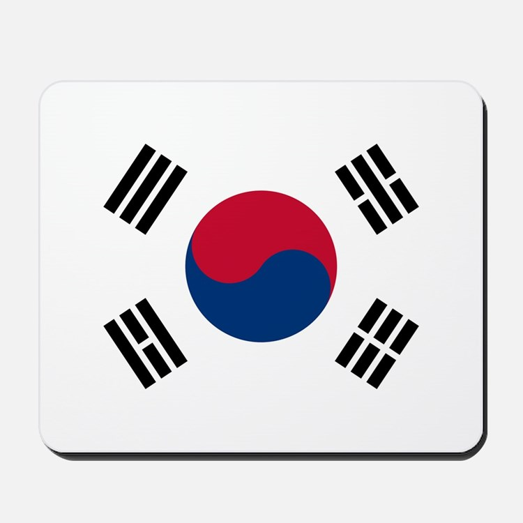 South Korea Flag Mousepad