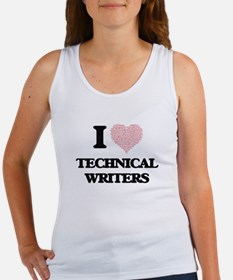 I love Technical Writers (Heart made from Tank Top